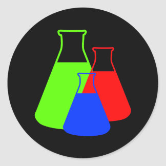 Multicolor Erlenmeyer Sticker