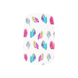 Multicolor Feathers Minx Nail Art
