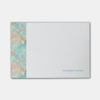 Multicolor Floral Doodle Pattern Post-it Notes