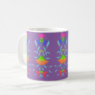 Multicolor, floral pattern, coffee mug