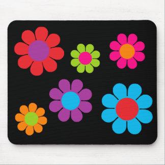 Multicolor Flower Power Mouse Pad