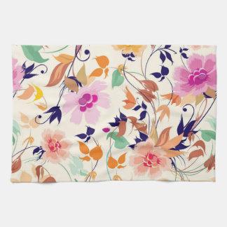Multicolor Flowers Kitchen Towel