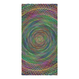 Multicolor fractal photo card