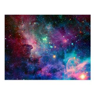 Multicolor Galaxy Postcard by S. Ambrose