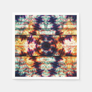 Multicolor Geometric Abstract Pattern Disposable Napkin