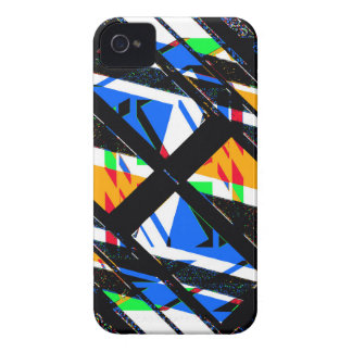 Multicolor Geometric Abstract Pattern iPhone 4 Cover