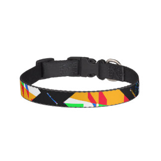 Multicolor Geometric Abstract Pattern Pet Collar