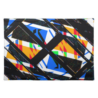 Multicolor Geometric Abstract Pattern Placemat
