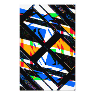 Multicolor Geometric Abstract Pattern Stationery
