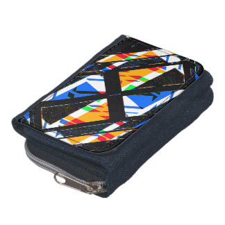 Multicolor Geometric Abstract Pattern Wallet