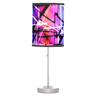 Multicolor Geometric Grunge Desk Lamps