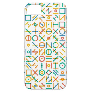 Multicolor Geometric Line Random Shapes Grid Case For The iPhone 5