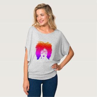 Multicolor Girl in Aviators T-Shirt