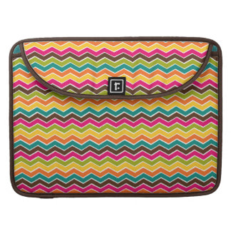 Multicolor girly chevron sleeve for MacBook pro