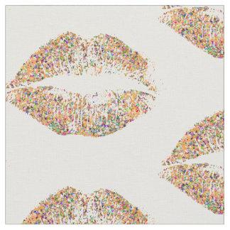 Multicolor Glitter Lips #31 Fabric