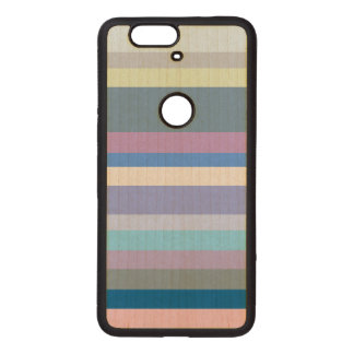 Multicolor Green/Gray/Beige/Pink/Purple/Blue Wood Nexus 6P Case
