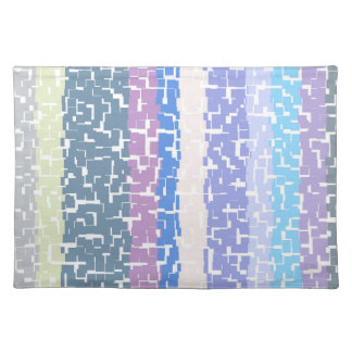 Multicolor Green/Grey/Beige/Pink/Purple/Blue Placemat