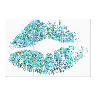 Multicolor Grit Glitter Lips #26 Canvas Print