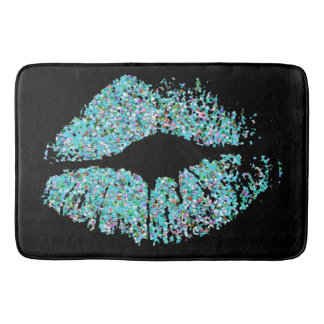 Multicolor Grit Glitter Lips #3 Bath Mat
