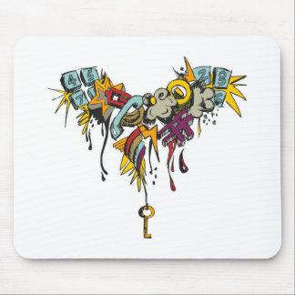 Multicolor grunge grafitti design. mouse pad