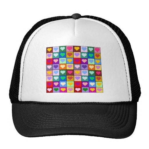 Multicolor Heart Squares