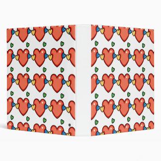 Multicolor Hearts Vinyl Binders