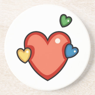 Multicolor Hearts Drink Coaster