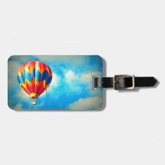 Multicolor Hot Air Balloon Luggage Tag