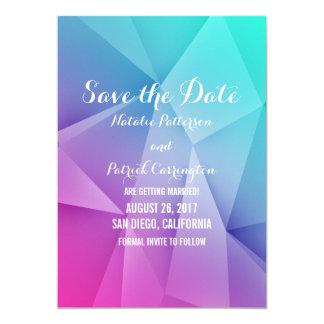 Multicolor Jewel Tones Save the Date Invite