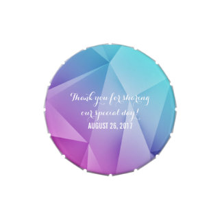 Multicolor Jewel Tones Wedding Candy Tin