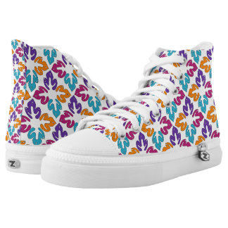 Multicolor Leaves Pattern High Top Shoes