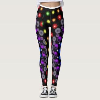 Multicolor leggings with unique design.
