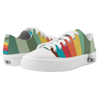 Multicolor Lines Low-Top Sneakers