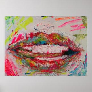 Multicolor lip poster
