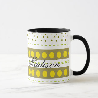 Multicolor Madison Monogram 11oz Ringer Coffee Mug