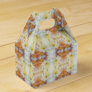 Multicolor Marble Pattern Favor Box