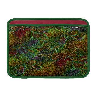 Multicolor metallic floral pattern MacBook air sleeves