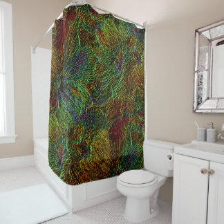 Multicolor metallic floral pattern Shower curtain