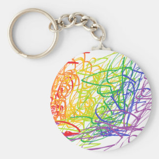 Multicolor Modern Art Key chain