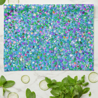Multicolor Mosaic Modern Grit Glitter #2 Kitchen Towel
