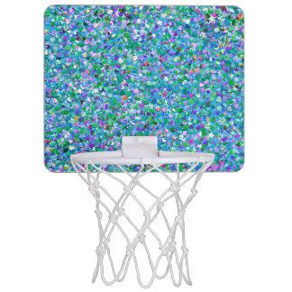 Multicolor Mosaic Modern Grit Glitter #2 Mini Basketball Hoop