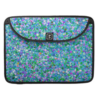 Multicolor Mosaic Modern Grit Glitter #2 Sleeve For MacBook Pro