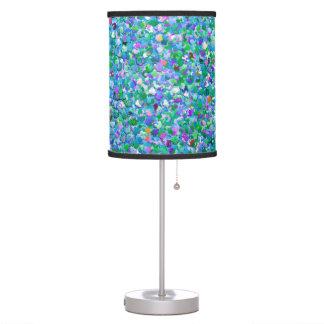 Multicolor Mosaic Modern Grit Glitter #2 Table Lamp