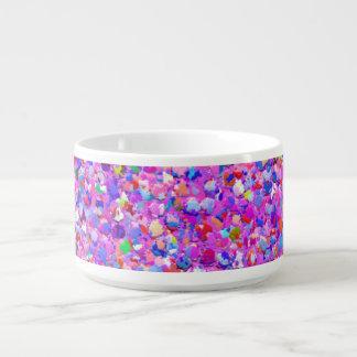 Multicolor Mosaic Modern Grit Glitter #3 Bowl