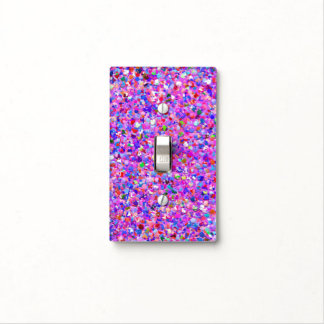 Multicolor Mosaic Modern Grit Glitter #3 Light Switch Cover