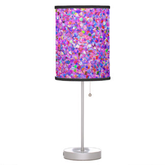 Multicolor Mosaic Modern Grit Glitter #3 Table Lamp