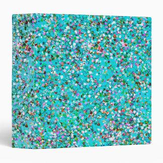 Multicolor Mosaic Modern Grit Glitter #3 Vinyl Binder