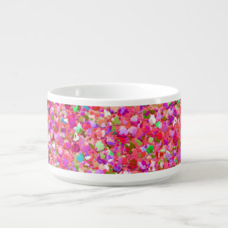 Multicolor Mosaic Modern Grit Glitter #4 Bowl