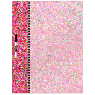 Multicolor Mosaic Modern Grit Glitter #4 Dry Erase Board