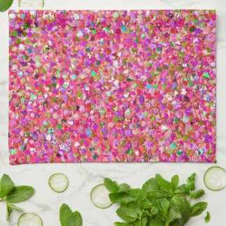 Multicolor Mosaic Modern Grit Glitter #4 Kitchen Towel